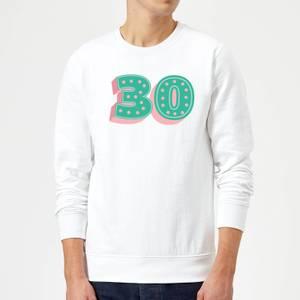 30 Dots Sweatshirt - White
