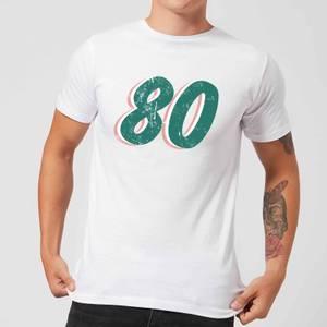 80 Distressed Men's T-Shirt - White