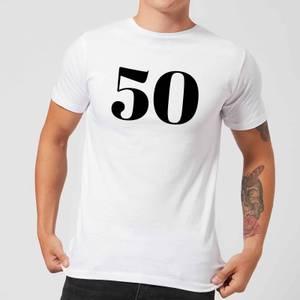50 Men's T-Shirt - White