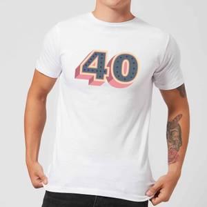 40 Dots Men's T-Shirt - White