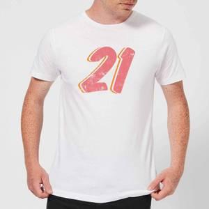 21 Distressed Men's T-Shirt - White