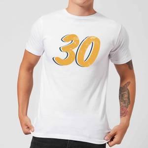 30 Distressed Men's T-Shirt - White