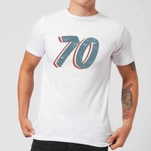 70 Distressed Men's T-Shirt - White