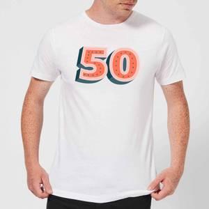50 Dots Men's T-Shirt - White