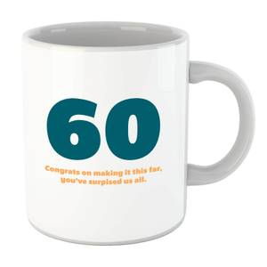 60 Congrats On Making It This Far, You've Surprised Us All. Mug