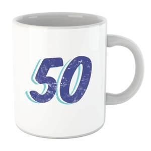 50 Distressed Mug
