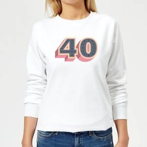 40 Dots Women's Sweatshirt - White