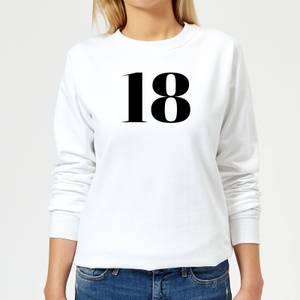 18 Women's Sweatshirt - White