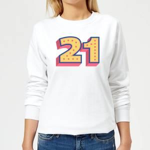 21 Dots Women's Sweatshirt - White