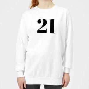 21 Women's Sweatshirt - White