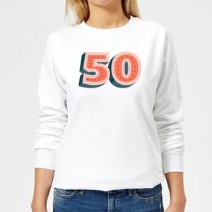 50 Dots Women's Sweatshirt - White