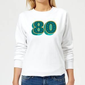 80 Dots Women's Sweatshirt - White