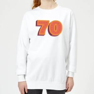 70 Dots Women's Sweatshirt - White