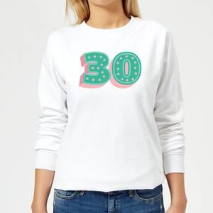 30 Dots Women's Sweatshirt - White