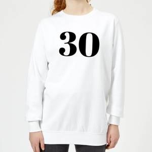 30 Women's Sweatshirt - White