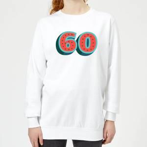 60 Dots Women's Sweatshirt - White