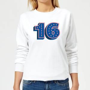 16 Dots Women's Sweatshirt - White