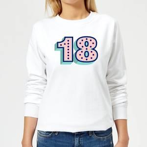 18 Dots Women's Sweatshirt - White