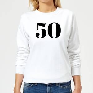 50 Women's Sweatshirt - White