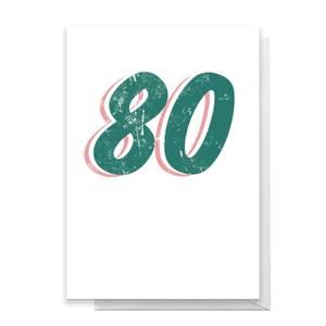 80 Distressed Greetings Card