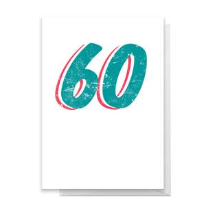60 Distressed Greetings Card