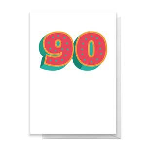 90 Dots Greetings Card