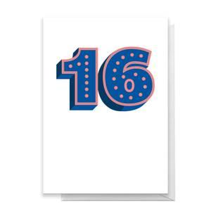 16 Dots Greetings Card