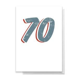 70 Distressed Greetings Card