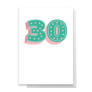 30 Dots Greetings Card