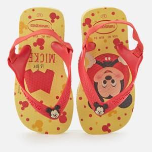 Havaianas Toddlers' Disney Classics II - Micky Flip Flops - Lemon Yellow