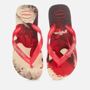 Havaianas Kids' Marvel Flip Flops - Spiderman - Ruby Red