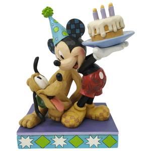 Disney Traditions Pluto and Mickey Birthday Figurine 18cm