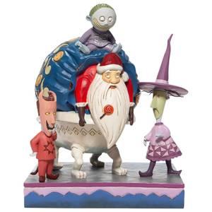 Disney Traditions Slot, Schok en Vat met Kerstman Beeldje 23 cm