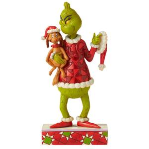 The Grinch by Jim Shore Grinch with Max Under His Arm Figurine 19.5cm