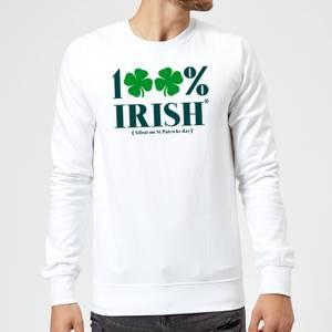 100% Irish* Sweatshirt - White