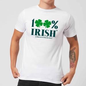 100% Irish* Men's T-Shirt - White
