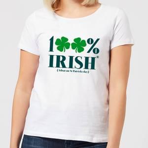 100% Irish* Women's T-Shirt - White