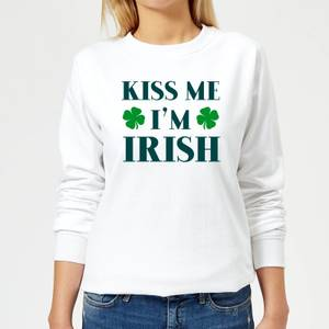 Kiss Me I'm Irish Women's Sweatshirt - White