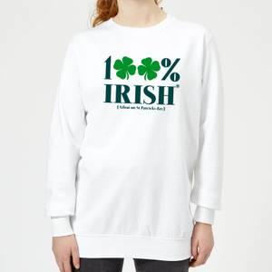 100% Irish* Women's Sweatshirt - White