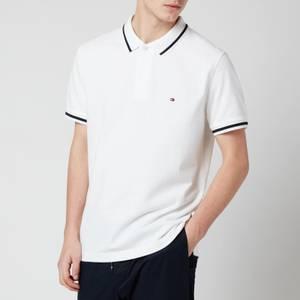 Tommy Hilfiger Men's Basic Tipped Regular Polo Shirt - White