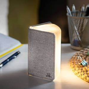 Gingko Linen Fabric Mini Smart Book Light - Urban Grey