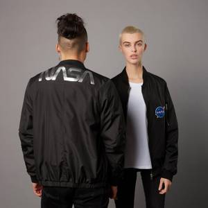 NASA Badged Bomber Jacket - Black