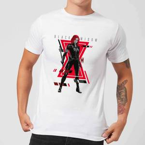 T-Shirt Black Widow Portrait Pose - Bianco - Uomo