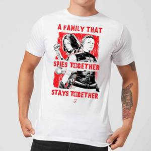T-Shirt Black Widow Family That Spies Together - Bianco - Uomo