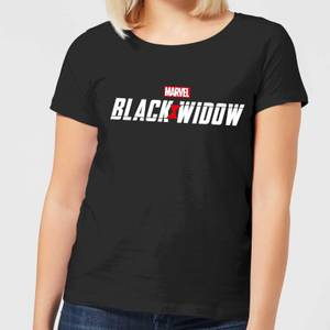 T-Shirt Black Widow Movie Logo - Nero - Donna