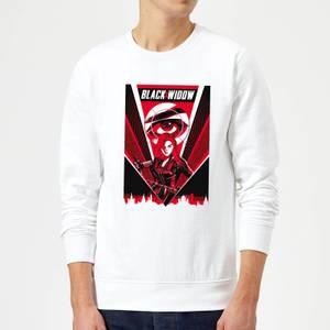 Black Widow Red Lightning Sweatshirt - White
