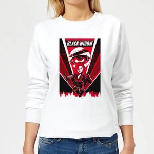 Black Widow Red Lightning Women's Sweatshirt - White