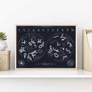 Constellation Scratch Poster