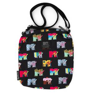 Loungefly MTV Black Passport Bag Aop
