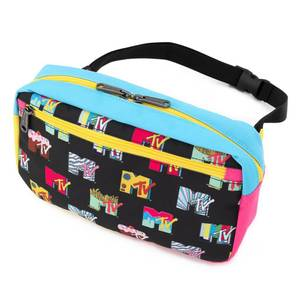 Loungefly MTV Black AOP Fanny Pack
